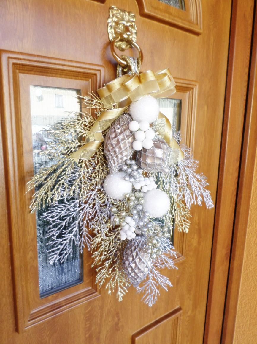 Vánoční dekorace na dveře - návod