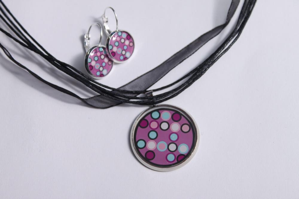 Sada šperků z pryskyřice s motivem - 24