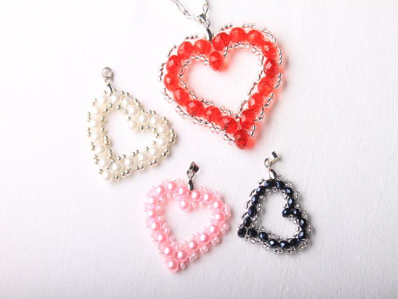 Návod na valentýnské srdce z korálků - 38